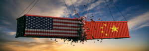 Tactical logistic solutions banner 6 shows usa and china containers